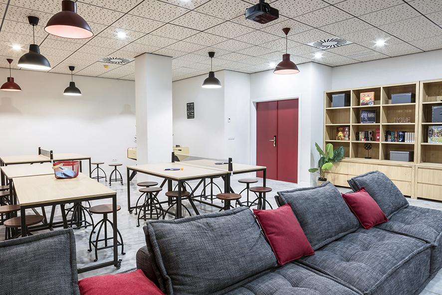 sala de juegos residencia de estudiantes odalys campus sevilla